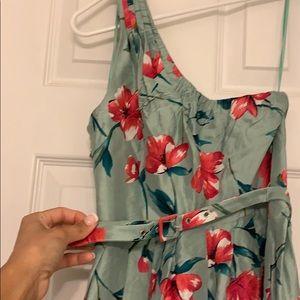 Express Dresses - Knee length one shoulder flower dress